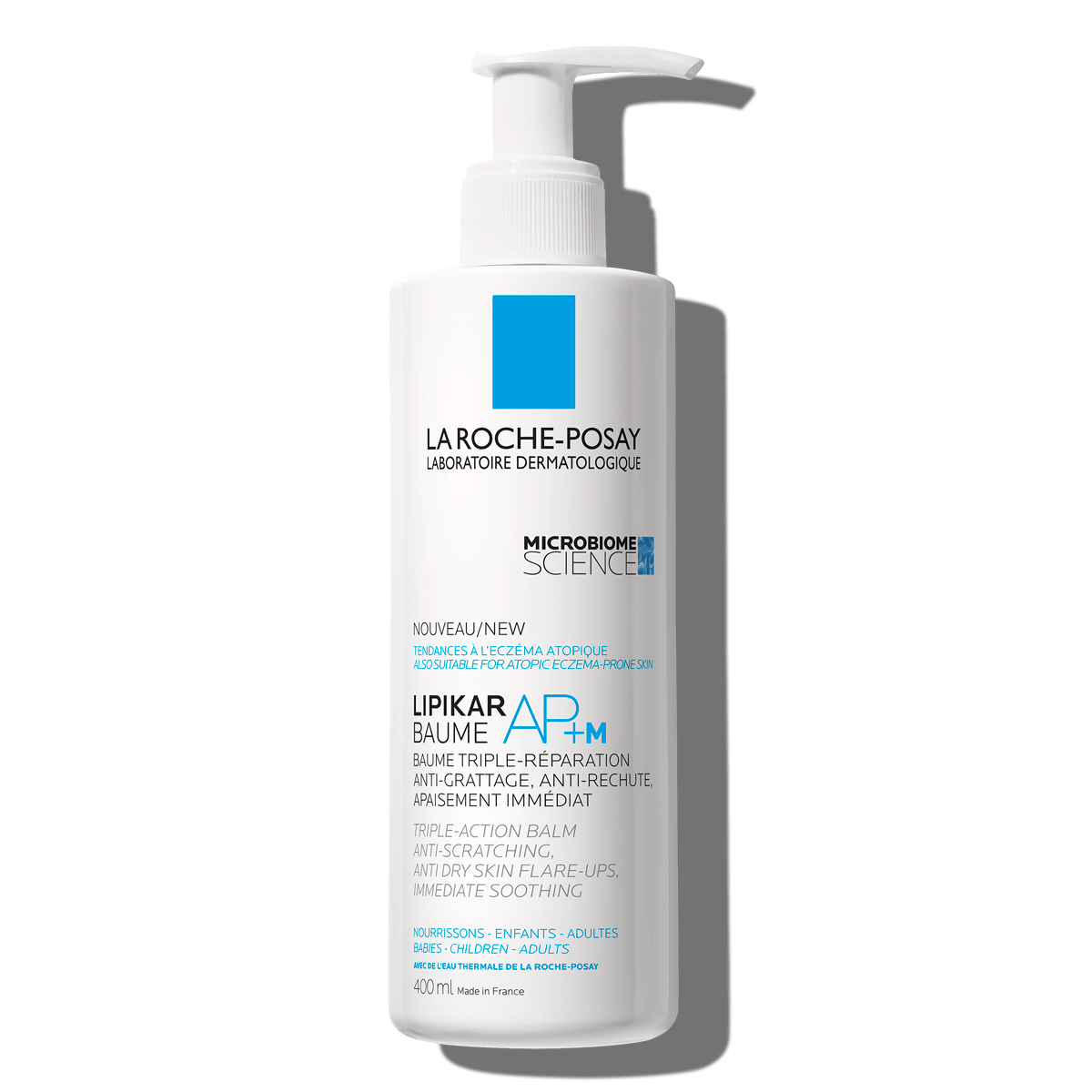 La Roche Posay Body Care Lipikar Baume AP+ 400ml Lipid Replenishing Balm Anti Irritation Scratching 000 3337872418570 Front Strong Shadow