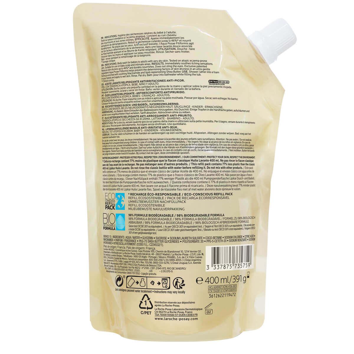 LaRochePosay-Product-Eczema-Lipikar-Eco-conscious-Refill-CleansingOilAP-400ml-3337875735759-BWS