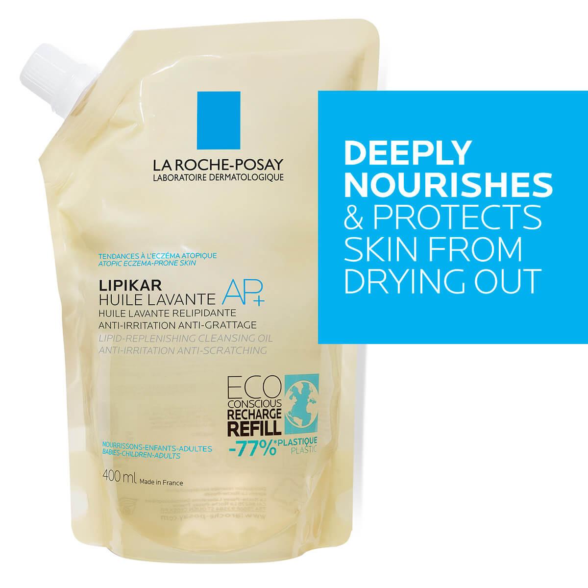 LaRochePosay-Product-Eczema-Lipikar-Eco-conscious-Refill-CleansingOilAP-400ml-3337875735759-Zoomed-FLS